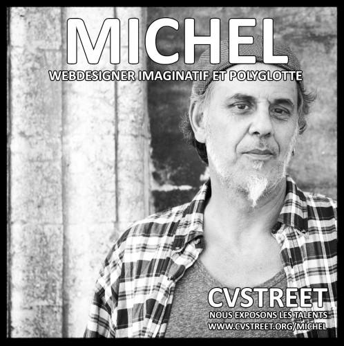 Michel : Webdesigner imaginatif et polyglotte