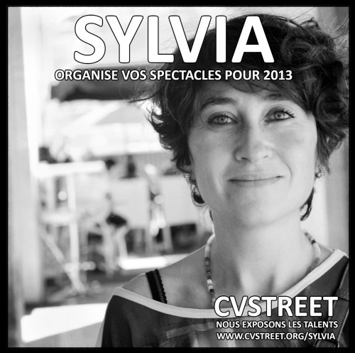Sylvia : organise vos spectacles pour 2013